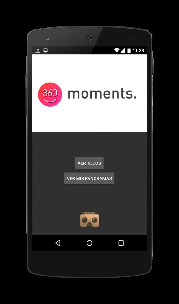 app 360momentsVR cardboard
